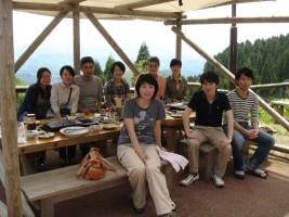 前田さん歓迎BBQ(医王山2012.5.23)